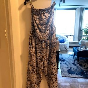 New York & Co. Strapless Abstract-Print Jumpsuit